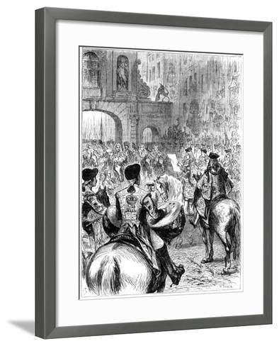 Proclamation of George I as King of Great Britain and Ireland, 1714-W Thomas-Framed Art Print
