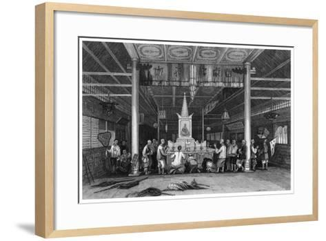 Temple of Buddha, Canton, China, 1843-WH Capone-Framed Art Print
