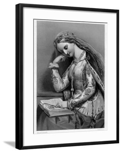 Elizabeth of York, Queen Consort of King Henry VII of England-WH Egleton-Framed Art Print