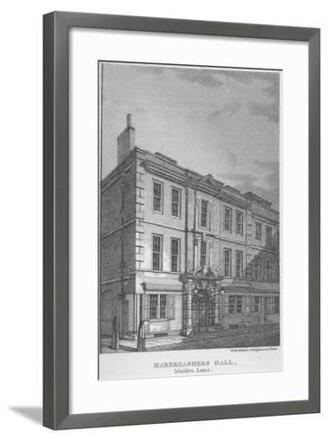 Haberdashers' Hall, City of London, 1811-William Angus-Framed Art Print