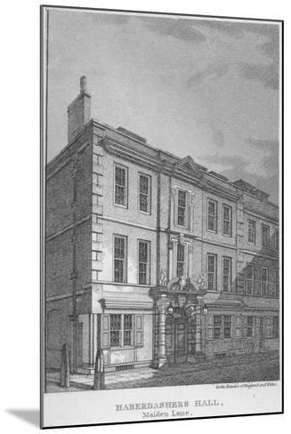 Haberdashers' Hall, City of London, 1811-William Angus-Mounted Giclee Print