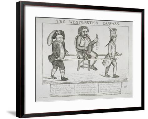 The Westminster Canvass, 1784-William Dent-Framed Art Print