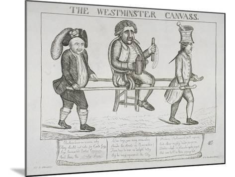 The Westminster Canvass, 1784-William Dent-Mounted Giclee Print