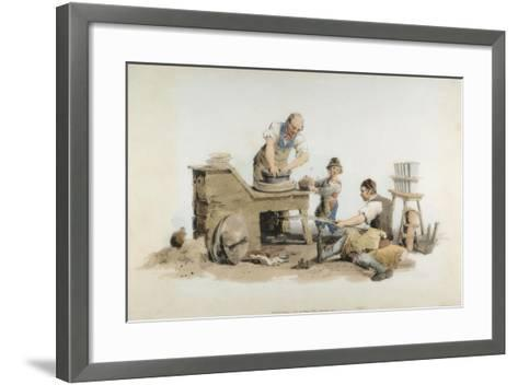 Making Flower Pots, 1808-William Henry Pyne-Framed Art Print