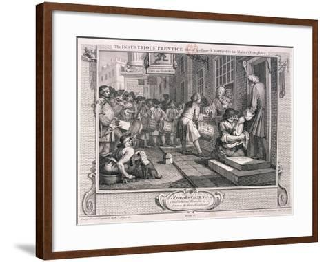 The Industrious Prentice, Plate VI of Industry and Idleness, 1747-William Hogarth-Framed Art Print