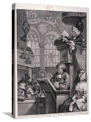 The Sleeping Congregation, 1762-William Hogarth-Stretched Canvas Print