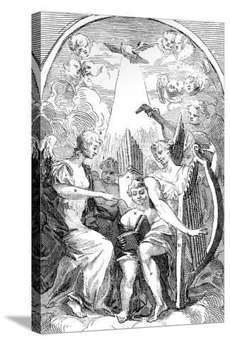 A Satire on the Altar-Piece by Kent in St Clement Danes Church, Westminster, 1725-William Hogarth-Stretched Canvas Print