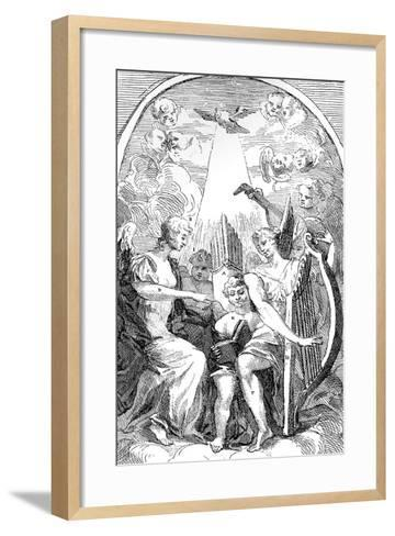 A Satire on the Altar-Piece by Kent in St Clement Danes Church, Westminster, 1725-William Hogarth-Framed Art Print