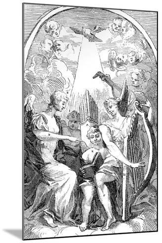 A Satire on the Altar-Piece by Kent in St Clement Danes Church, Westminster, 1725-William Hogarth-Mounted Giclee Print