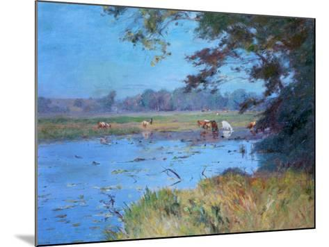 The Watering Pond, C1868-1917-Walter Clark-Mounted Giclee Print