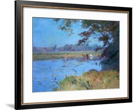 The Watering Pond, C1868-1917-Walter Clark-Framed Art Print