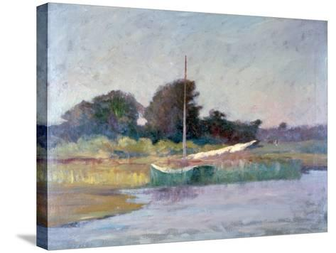 Lone Boat, C1868-1917-Walter Clark-Stretched Canvas Print