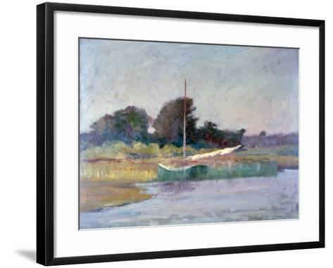 Lone Boat, C1868-1917-Walter Clark-Framed Art Print