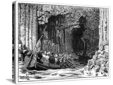 The Royal Visit to Fingal's Cave, Staffa, Scotland, 1847-William Barnes Wollen-Stretched Canvas Print