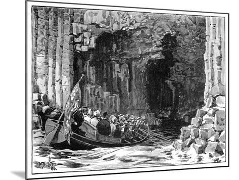 The Royal Visit to Fingal's Cave, Staffa, Scotland, 1847-William Barnes Wollen-Mounted Giclee Print