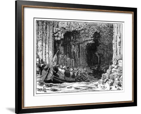 The Royal Visit to Fingal's Cave, Staffa, Scotland, 1847-William Barnes Wollen-Framed Art Print