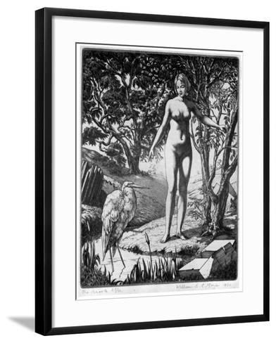 The Brook, 1930-William EC Morgan-Framed Art Print