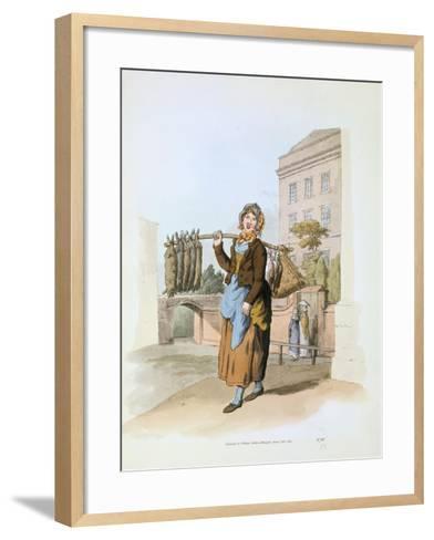 Rabbit Seller, 1808-William Henry Pyne-Framed Art Print