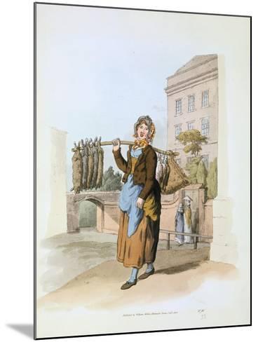 Rabbit Seller, 1808-William Henry Pyne-Mounted Giclee Print