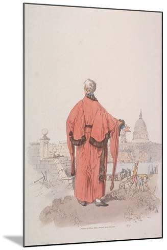 Alderman in Civic Costume Looking Towards St Paul's Cathedral, London, 1805-William Henry Pyne-Mounted Giclee Print