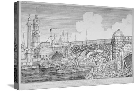 London Bridge, 1826-William Knight-Stretched Canvas Print