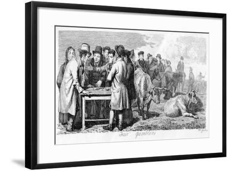 Fair Gamblers, Early 19th Century-Walter Geikie-Framed Art Print