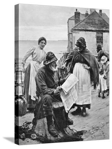 When the Boats are Away, 1903-Walter Langley-Stretched Canvas Print