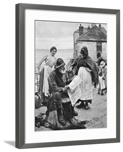 When the Boats are Away, 1903-Walter Langley-Framed Art Print