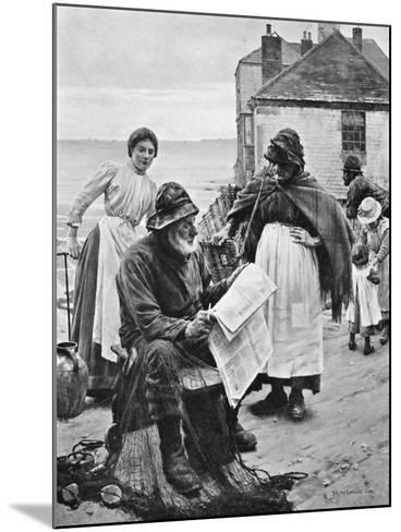 When the Boats are Away, 1903-Walter Langley-Mounted Giclee Print