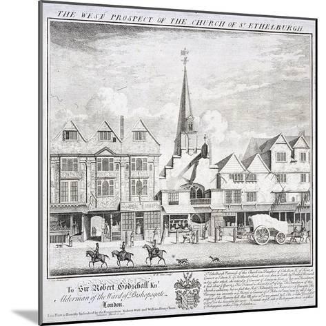 St Ethelburga-The-Virgin Within Bishopsgate, London, 1736-William Henry Toms-Mounted Giclee Print