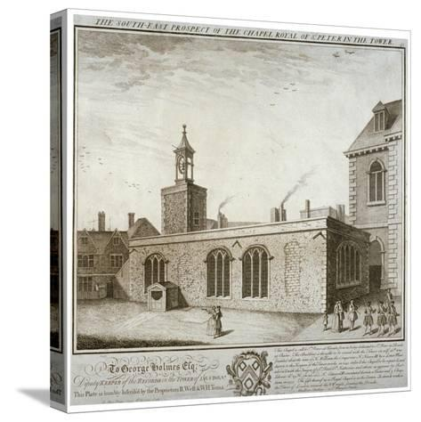 South-East View of the Chapel of St Peter Ad Vincula, Tower of London, C1737-William Henry Toms-Stretched Canvas Print