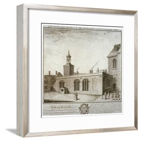 South-East View of the Chapel of St Peter Ad Vincula, Tower of London, C1737-William Henry Toms-Framed Art Print