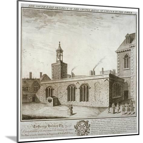 South-East View of the Chapel of St Peter Ad Vincula, Tower of London, C1737-William Henry Toms-Mounted Giclee Print