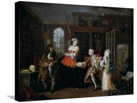 Marriage A-La-Mode: 3, the Inspection, C1743-William Hogarth-Stretched Canvas Print