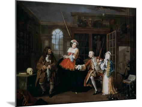 Marriage A-La-Mode: 3, the Inspection, C1743-William Hogarth-Mounted Giclee Print