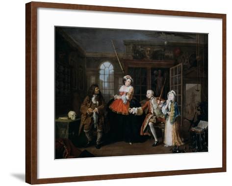 Marriage A-La-Mode: 3, the Inspection, C1743-William Hogarth-Framed Art Print