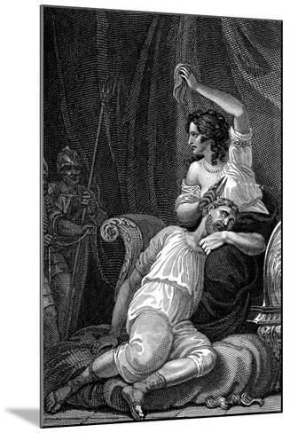 Delilah Cutting Samson's Hair, Thus Taking Away His Strength, 1820-William Marshall Craig-Mounted Giclee Print