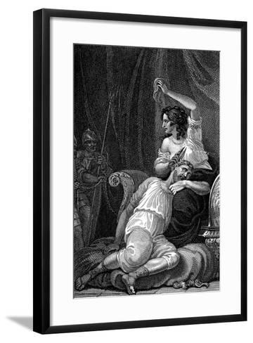 Delilah Cutting Samson's Hair, Thus Taking Away His Strength, 1820-William Marshall Craig-Framed Art Print
