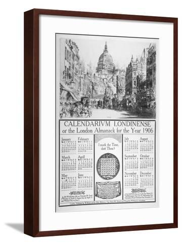 St Paul's Cathedral and Fleet Street, City of London, 1905-William Monk-Framed Art Print