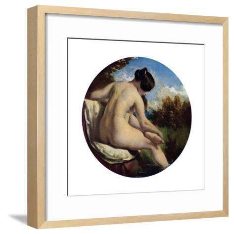 The Bather, 19th Century-William Etty-Framed Art Print