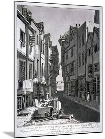 Little Sanctuary, Westminster, London, 1807-William Fellows-Mounted Giclee Print