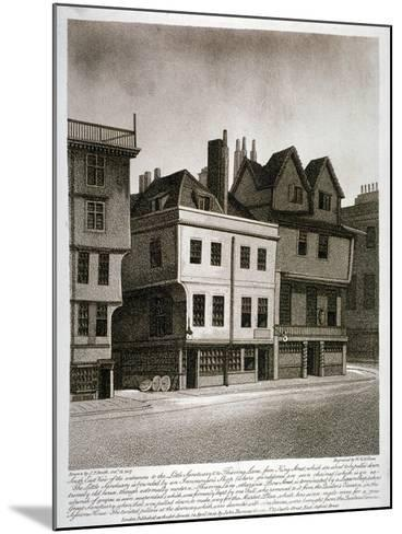 Entrances to Little Sanctuary and Thieving Lane, Westminster, London, 1807-William Fellows-Mounted Giclee Print
