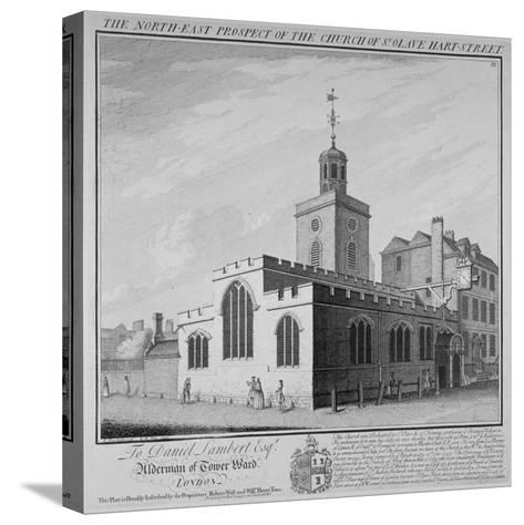 North-East Prospect of the Church of St Olave, Hart Street, City of London, 1736-William Henry Toms-Stretched Canvas Print