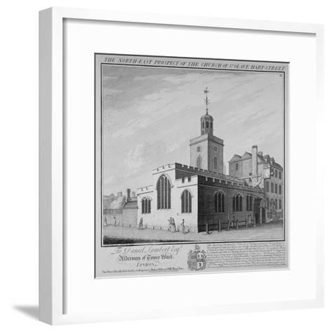 North-East Prospect of the Church of St Olave, Hart Street, City of London, 1736-William Henry Toms-Framed Art Print