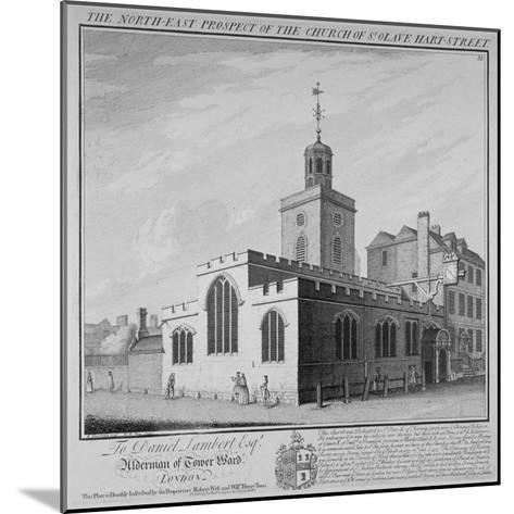 North-East Prospect of the Church of St Olave, Hart Street, City of London, 1736-William Henry Toms-Mounted Giclee Print