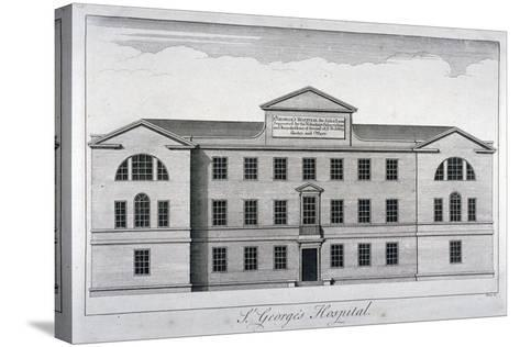 Front Elevation of St George's Hospital, Hyde Park Corner, Westminster, London, C1740-William Henry Toms-Stretched Canvas Print