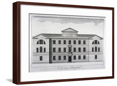 Front Elevation of St George's Hospital, Hyde Park Corner, Westminster, London, C1740-William Henry Toms-Framed Art Print