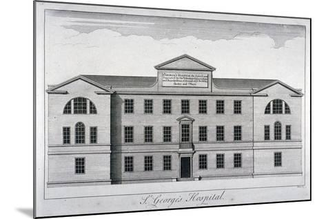Front Elevation of St George's Hospital, Hyde Park Corner, Westminster, London, C1740-William Henry Toms-Mounted Giclee Print
