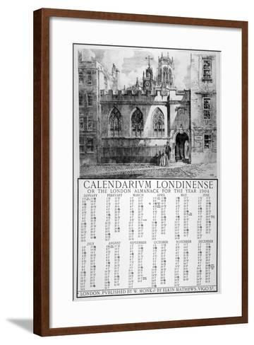 Clifford's Inn, London, 1903-William Monk-Framed Art Print