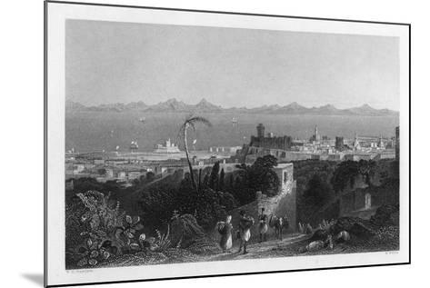 Rhodes, from the Heights Near Sir Sidney Smith's Villa, 1841-W Wallis-Mounted Giclee Print